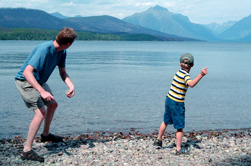 Skipping Stones - Father and Son